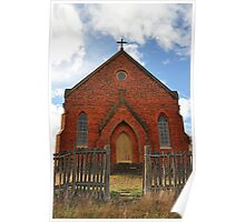 Abandoned Church - Hill End NSW Poster