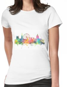 Nottingham England Skyline Womens Fitted T-Shirt