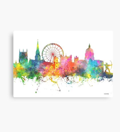 Nottingham England Skyline Canvas Print