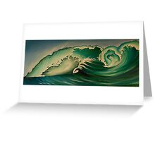 Blue Crush. Surf Art. Greeting Card