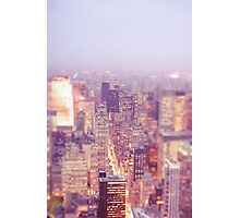 New York City - Skyline - Dusk Photographic Print