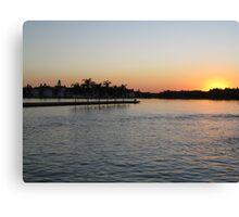 Sunset At Magic Kingdom, Florida Canvas Print