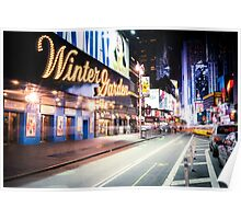 Times Square and Broadway at Night - New York City Poster