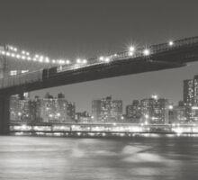 City Night - New York - Brooklyn Bridge Sticker