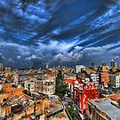 Tel Aviv first rain by Ronsho