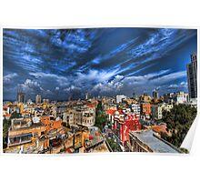 Tel Aviv first rain Poster