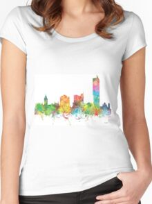 Manchester, England skyline Women's Fitted Scoop T-Shirt