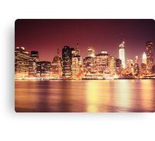 New York City - Night Lights Canvas Print