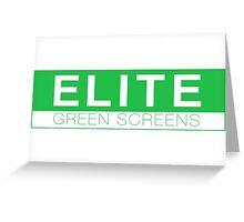 Elite Green Screens Box Logo Greeting Card