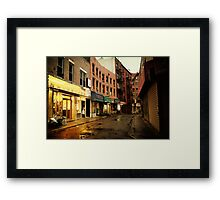 Rainy Evening - New York City - Chinatown Framed Print