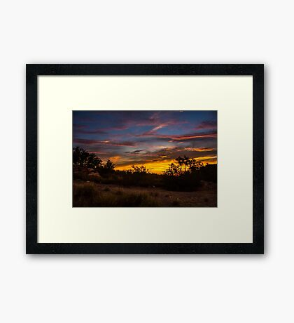 Colorful hills Framed Print