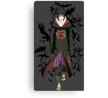 naruto shippuden sasuke uchiha anime manga shirt Canvas Print