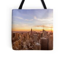 New York City Skyline - Skyscrapers at Sunset Tote Bag