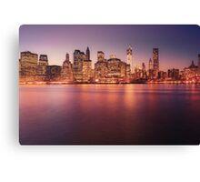New York City Night Skyline Canvas Print