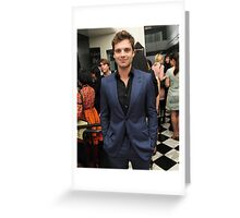 Sebastian Stan in a suit Greeting Card