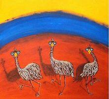 DANCING EMUS by RoseLangford