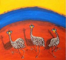 DANCING EMUS by RoseLangford