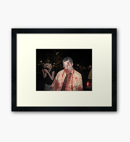 Where are you running? Framed Print