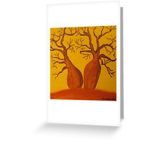 BOAB TREES Greeting Card