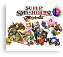 Super Smash Bros Brawl Canvas Print