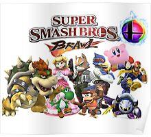 Super Smash Bros Brawl Poster