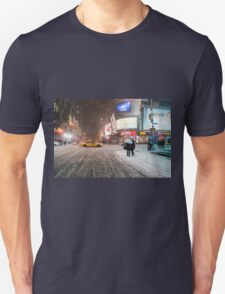Times Square in the Snow - Winter in NYC T-Shirt