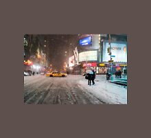 Times Square in the Snow - Winter in NYC Unisex T-Shirt