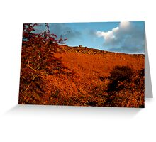 Sunset over Curbar Edge DERBYSHIRE  Greeting Card