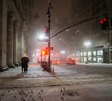 Winter Romance - Snowy Night in New York City by Vivienne Gucwa