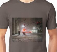 Winter Romance - Snowy Night in New York City Unisex T-Shirt