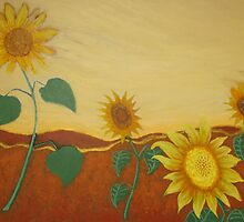 JULIE'S SUNFLOWERS by Rose Langford
