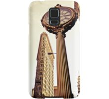 Flatiron Building and 5th Avenue Clock - New York City Samsung Galaxy Case/Skin