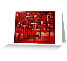 Labyrinth Street Greeting Card