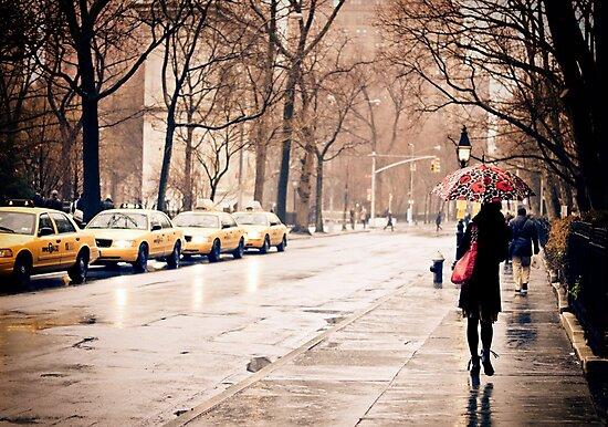 Rain - Washington Square - New York City by Vivienne Gucwa