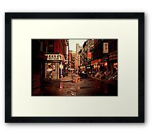 Rainy Afternoon - Chinatown - New York City Framed Print