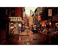 Rainy Afternoon - Chinatown - New York City Photographic Print