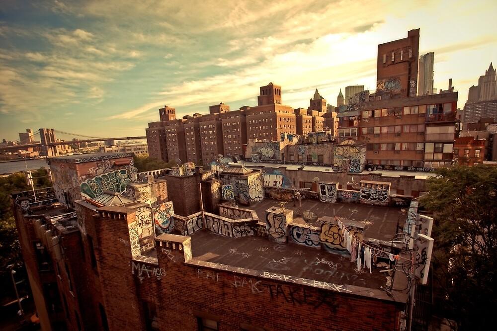 Rooftop Graffiti - Chinatown - New York City by Vivienne Gucwa