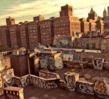 Rooftop Graffiti - Chinatown - New York City Sticker