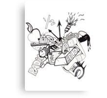 Drawn Radio Canvas Print