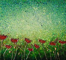 Poppy Sensation. Contemporary Modern, Unique. by jan farthing