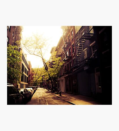 Sunlit Street - Greenwich Village - New York City Photographic Print