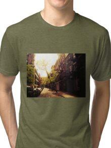 Sunlit Street - Greenwich Village - New York City Tri-blend T-Shirt