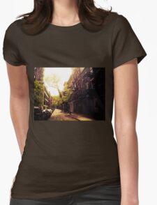 Sunlit Street - Greenwich Village - New York City Womens Fitted T-Shirt