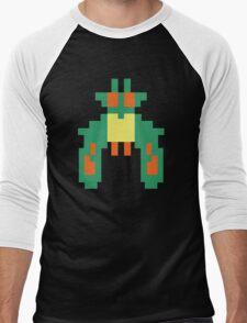 Space Bug Classic 80s Arcade  Men's Baseball ¾ T-Shirt