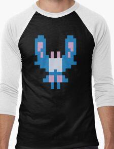 Blue Space Bug Classic 80s Arcade  Men's Baseball ¾ T-Shirt