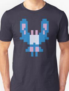 Blue Space Bug Classic 80s Arcade  T-Shirt
