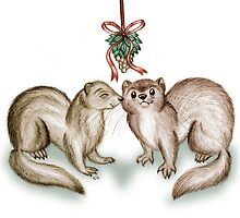 A Ferrety Kiss - Christmas Cards by CGafford
