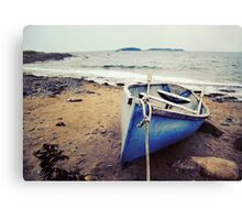 Blue Boat - Coastal Maine Canvas Print