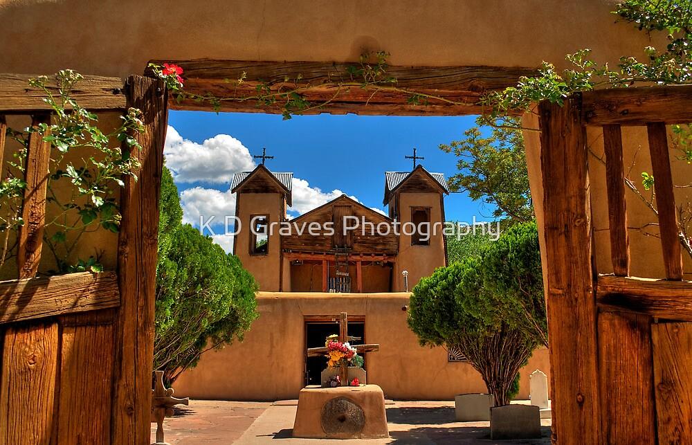 Gates to Santuario de Chimayó Church by K D Graves Photography