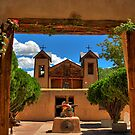 Gates to Santuario de Chimayó Church by K D Graves Photography